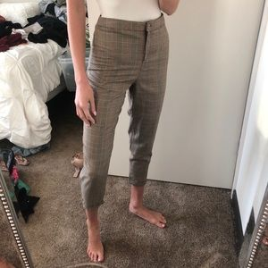 Plaid Tapered Trousers Boohoo